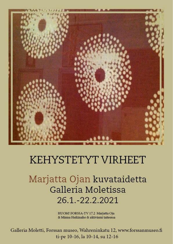 Näyttely: Marjatta Oja: Kehystetyt virheet 26.1.-22.2.2021